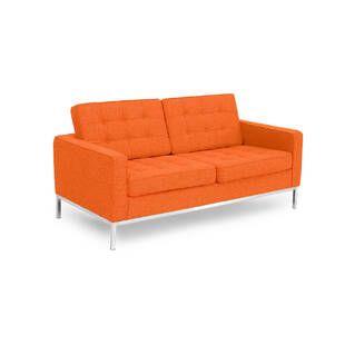 Оранжевый двухместный диван Florence