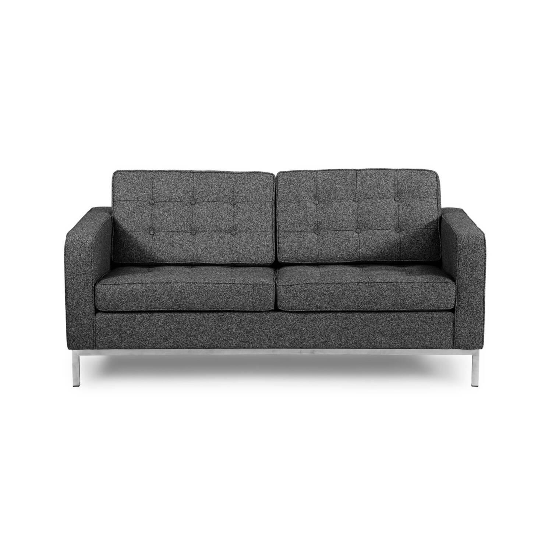 серый двухместный диван Florence в стиле классический модерн с элементами стиля