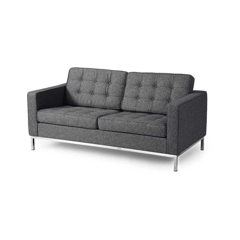 Серый двухместный диван Florence