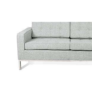 Светло-серый двухместный диван Florence