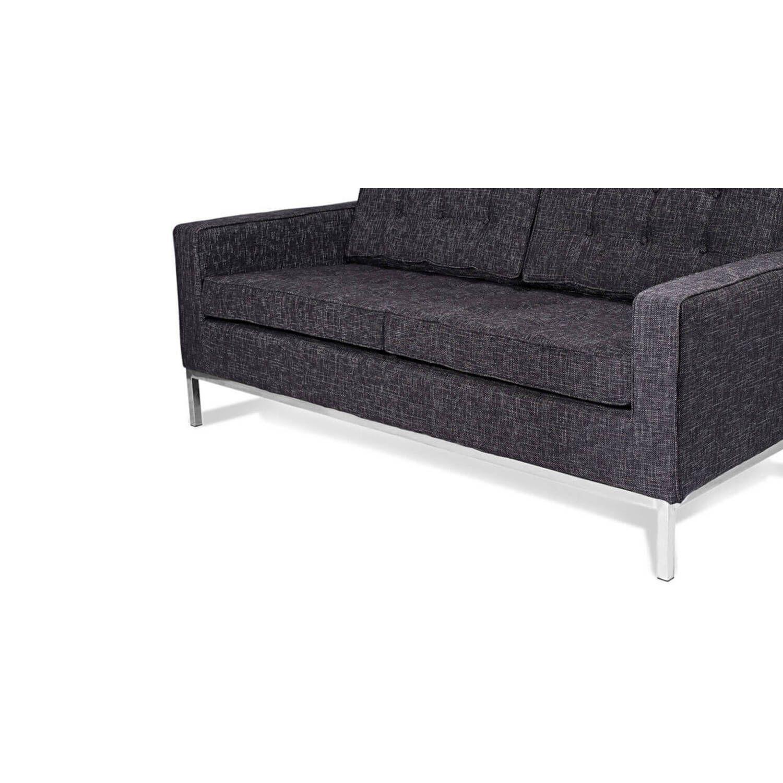 Темно-серый двухместный диван Florence