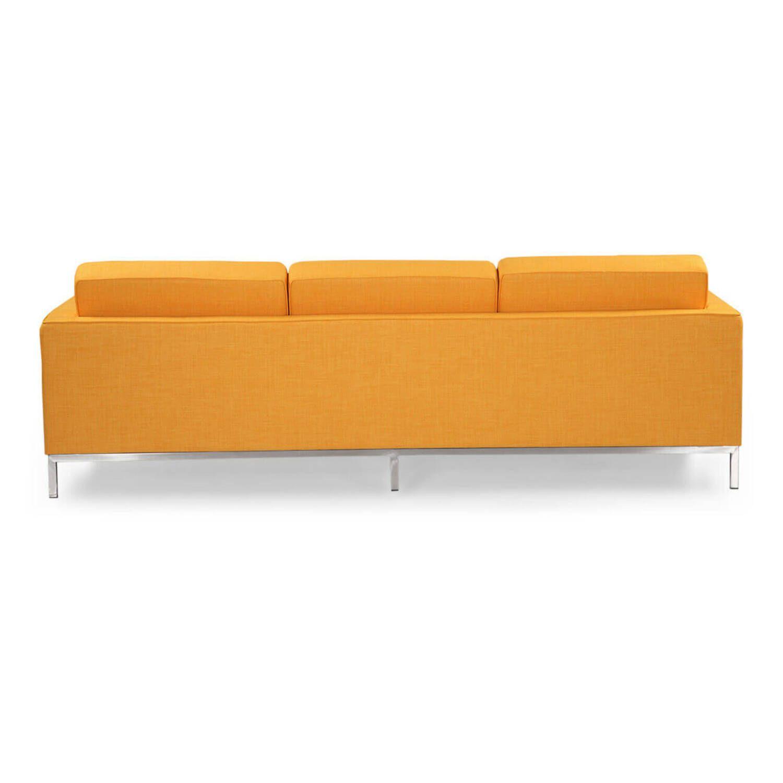 Желтый трехместный диван Florence, в стиле модерн\лофт