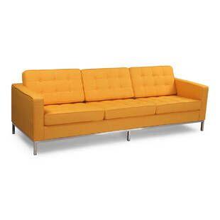 Желтый трехместный диван Florence