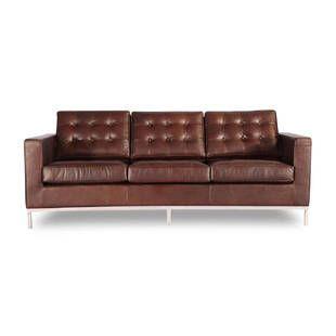Трехместный диван Florence, коричневая винтажная кожа