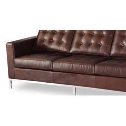 Трехместный диван Florence, коричневая винтажная кожа, в стиле модерн\лофт