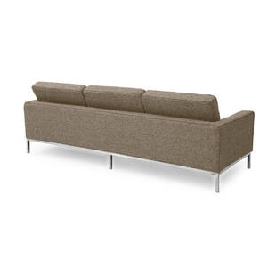 Коричневый трехместный диван Florence