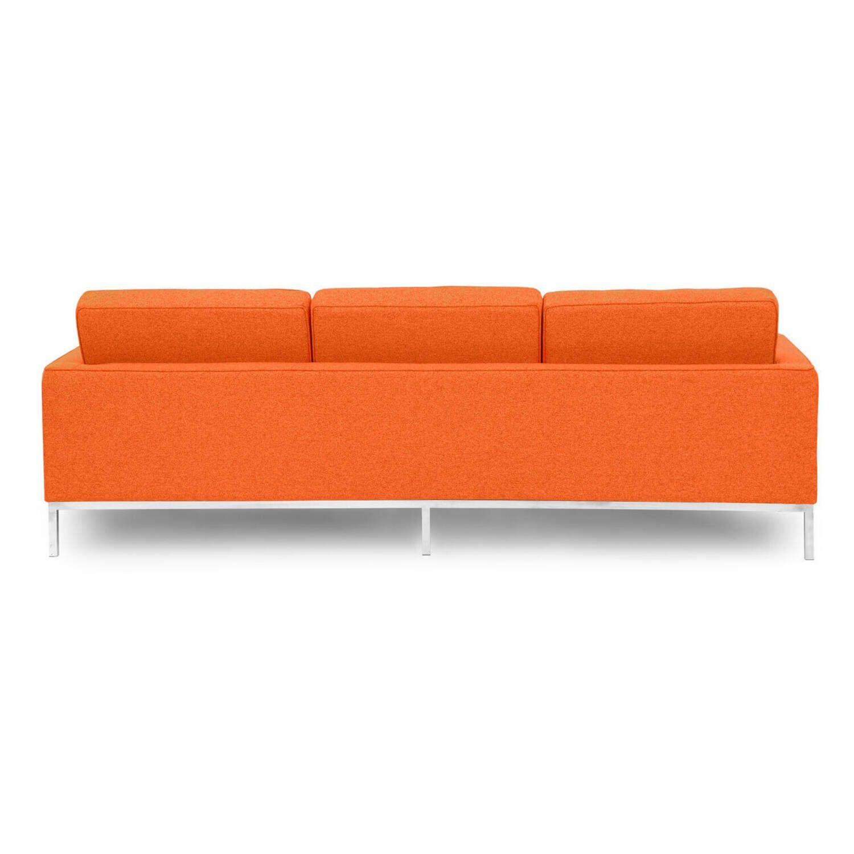 Оранжевый трехместный диван Florence, в стиле модерн\лофт