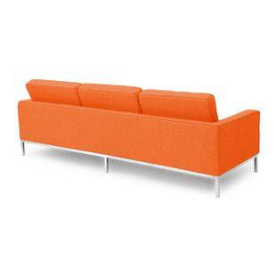 Оранжевый трехместный диван Florence