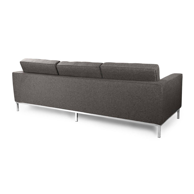 Серый трехместный диван Florence, в стиле модерн\лофт