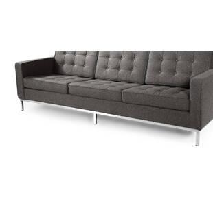 Серый трехместный диван Florence