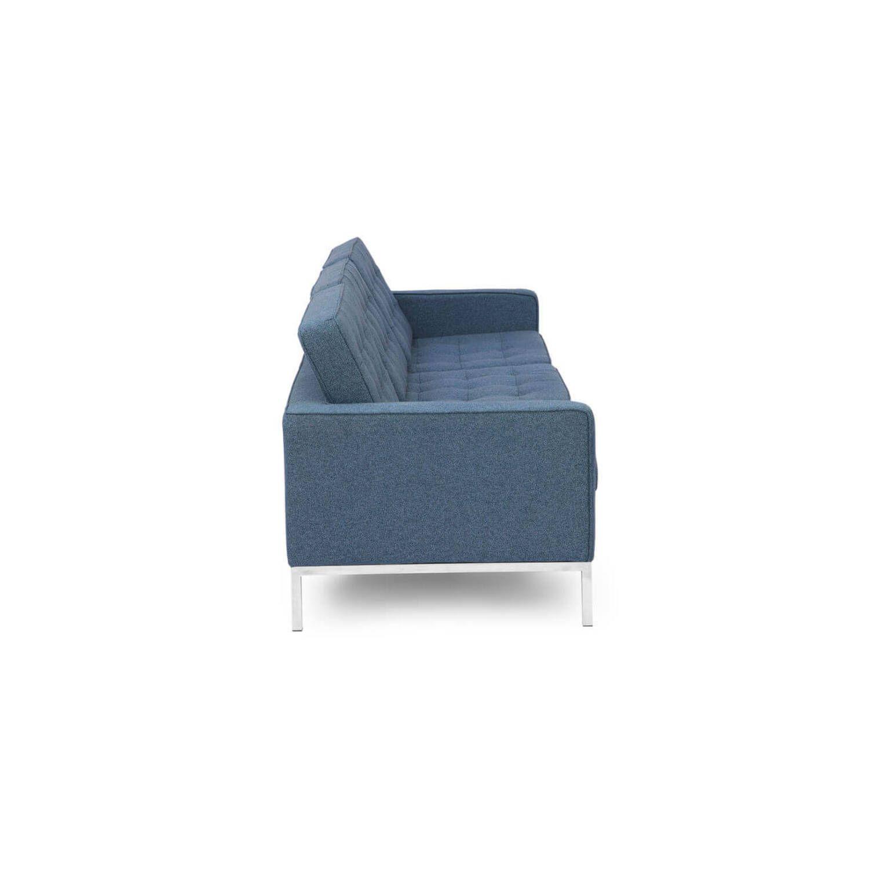 Сине-серый трехместный диван Florence, в стиле модерн\лофт