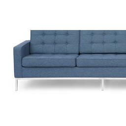 Сине-серый трехместный диван Florence
