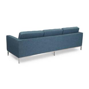 Синий трехместный диван Florence