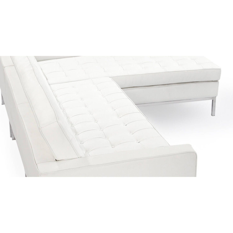 Белый кожаный модульный диван Florence, в стиле модерн\лофт