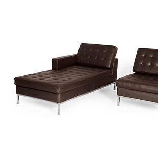 Коричневый кожаный модульный диван Florence, экокожа