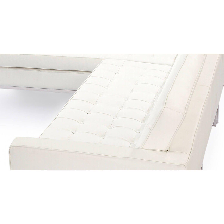 Кремовый кожаный модульный диван Florence, в стиле модерн\лофт
