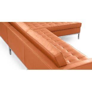Оранжевый модульный диван Florence, экокожа
