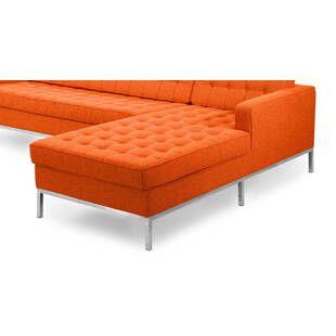 Оранжевый модульный диван Florence