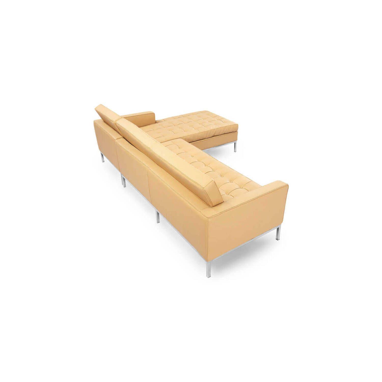 Песочный кожаный модульный диван Florence, в стиле модерн\лофт