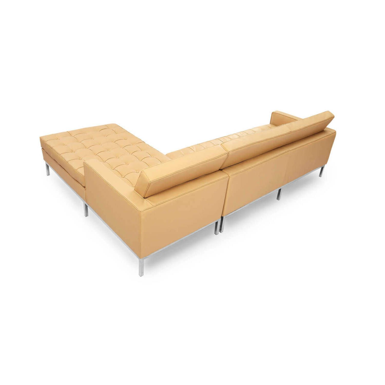 Песочный кожаный модульный диван Florence купить