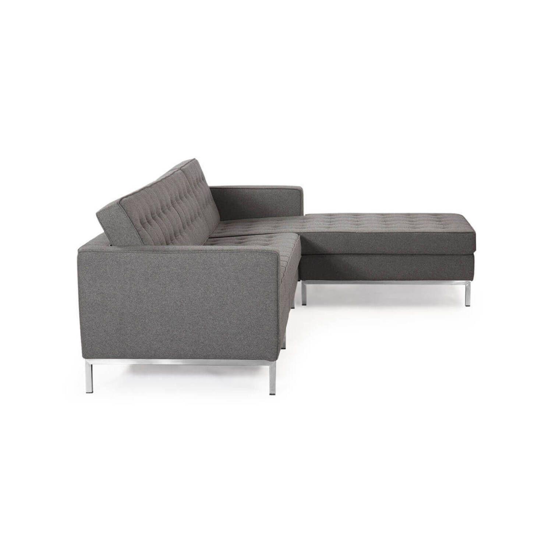 Серый модульный диван Florence