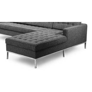Серо-стальной модульный диван Florence
