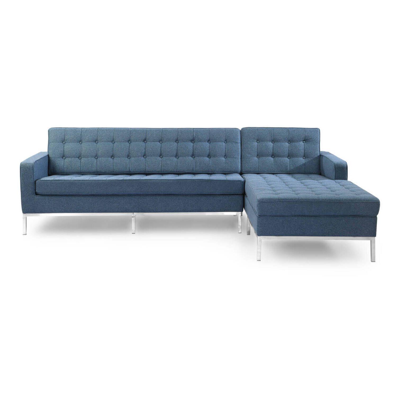 Синий модульный диван Florence