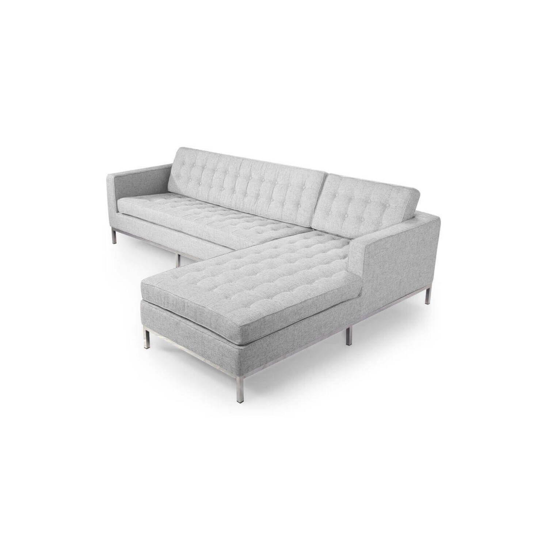 Светло-серый модульный диван Florence, в стиле модерн\лофт