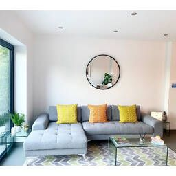 Желтый модульный угловой диван Vittorio