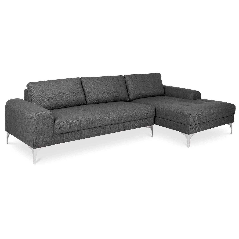 Серый модульный угловой диван Vittorio