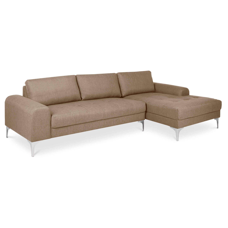 Коричневый модульный угловой диван Vittorio