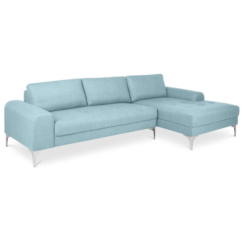 Голубой модульный угловой диван Vittorio