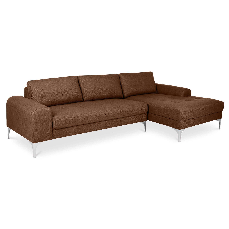 Шоколадный модульный угловой диван Vittorio