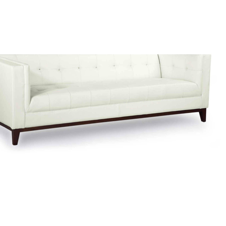 Дизайнерский прямой белый кожаный диван Harrison, в стиле классический модерн & лофт