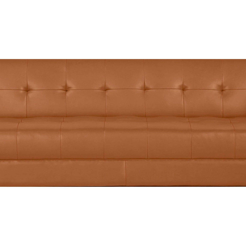 Дизайнерский прямой оранжевый кожаный диван Harrison, в стиле классический модерн & лофт