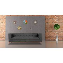 Темно-серый тканевый диван Harrison