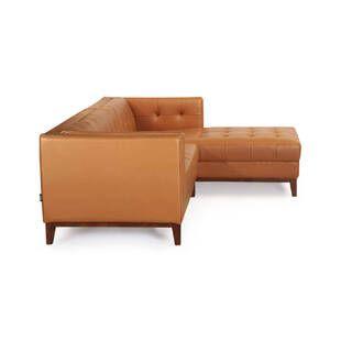 Диван Harrison модульный оранжевый, натуральная кожа