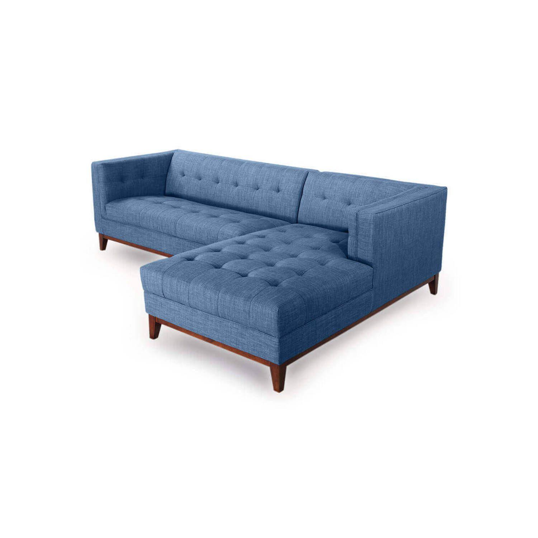 Диван Harrison модульный синий, тканевый
