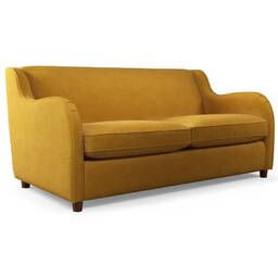 Диван Helena, со спальным механизмом, желтый