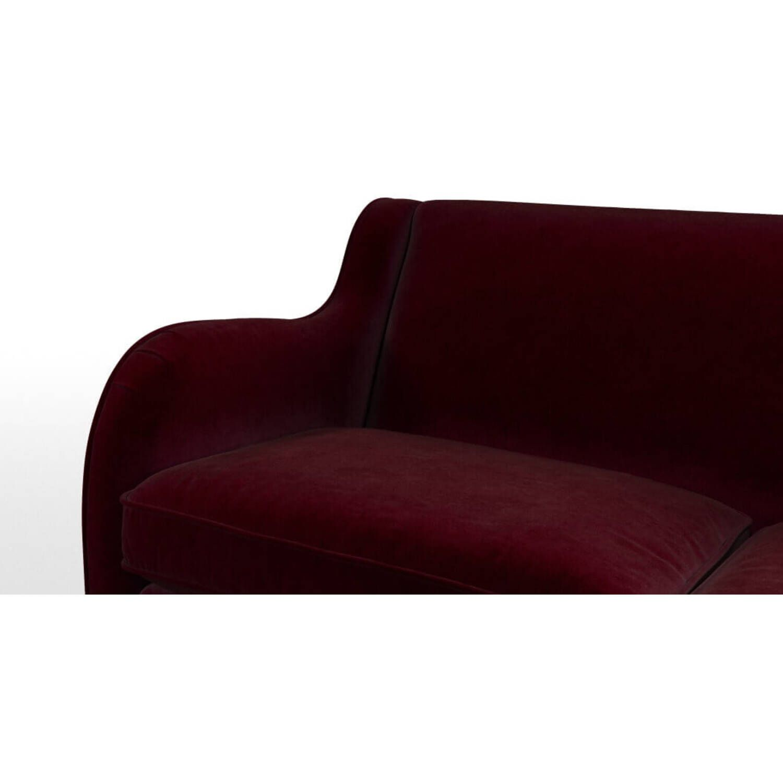 Диван Helena, со спальным механизмом, бордовый