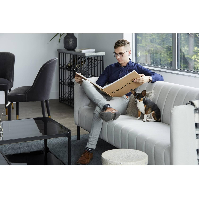 Диван Jaxon в современном стиле, прямой, серый