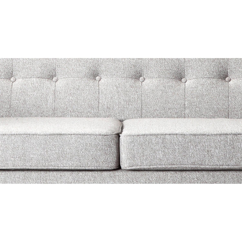 Светло-серый тканевый диван Jefferson, в стиле классический модерн & лофт