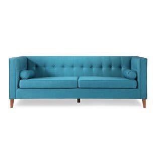 Голубой диван Jefferson, ткань