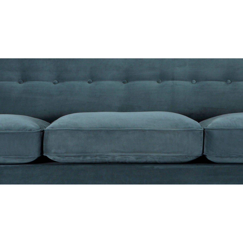 Прямой диван Kennedy цвета морской волны