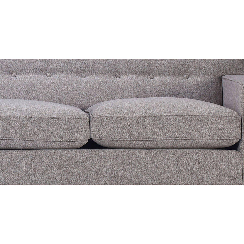 Светло-серый прямой диван Kennedy