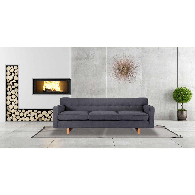 Темно-серый прямой диван Kennedy
