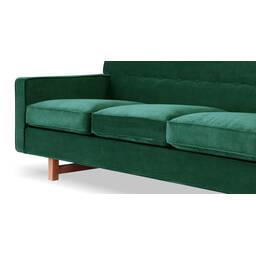 Зеленый прямой диван Kennedy
