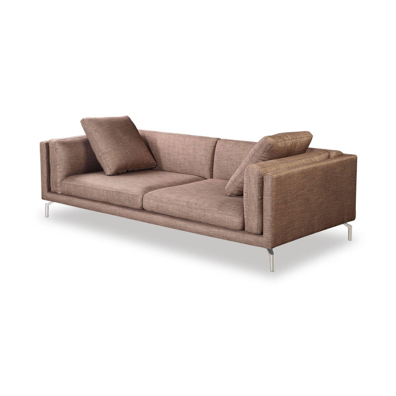 Дизайнерский коралловый диван Loft & Mid-Century, в стиле лофт/модерн
