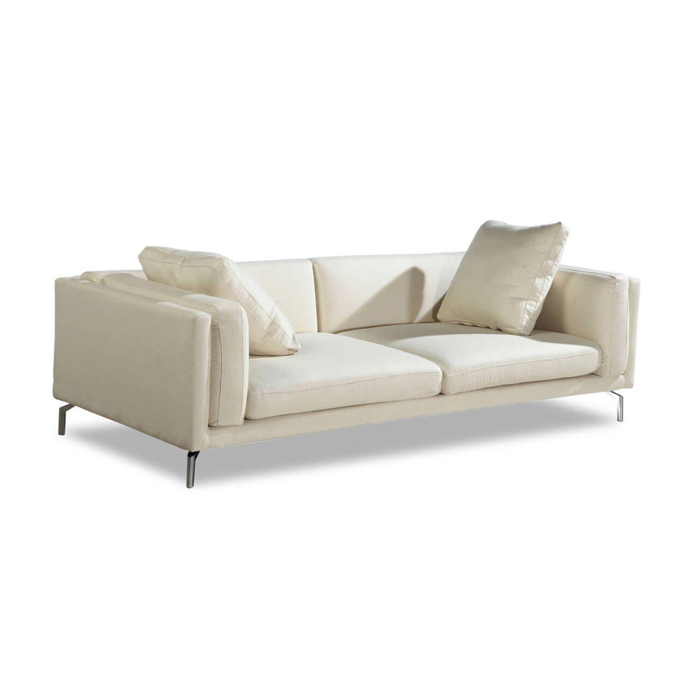 Дизайнерский кремовый диван Loft & Mid-Century, в стиле лофт/модерн
