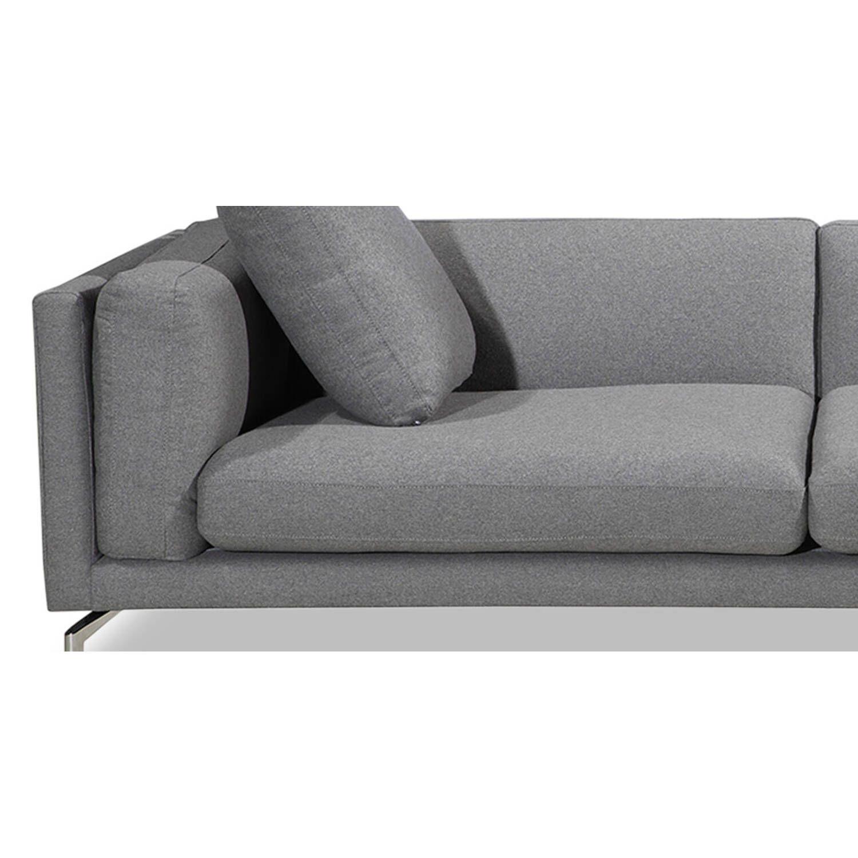 Дизайнерский светло-серый диван Loft & Mid-Century, в стиле лофт/модерн